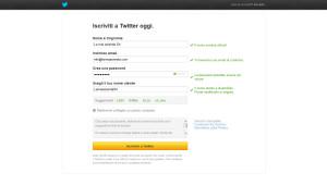 Aprire un account aziendale Twitter, step 2