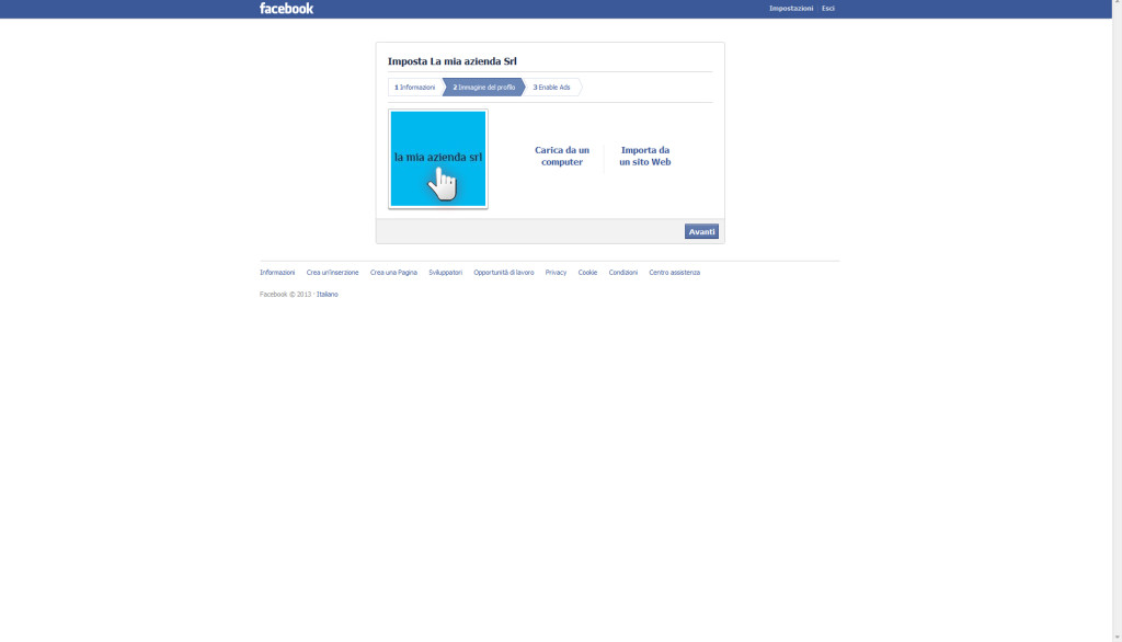 Aprire una pagina aziendale su Facebook, step 7