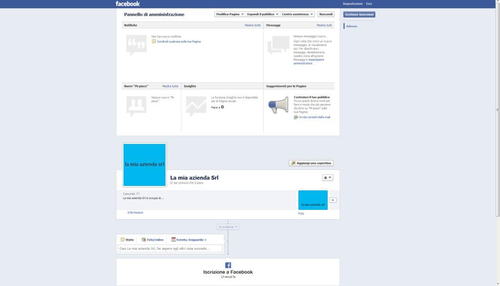 Aprire una pagina aziendale su Facebook, step 8