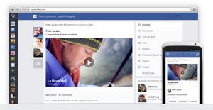 Il nuovo layout di Facebook