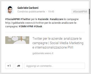 Google+ hashtag