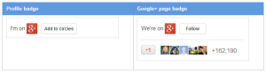 Google+ profile badge