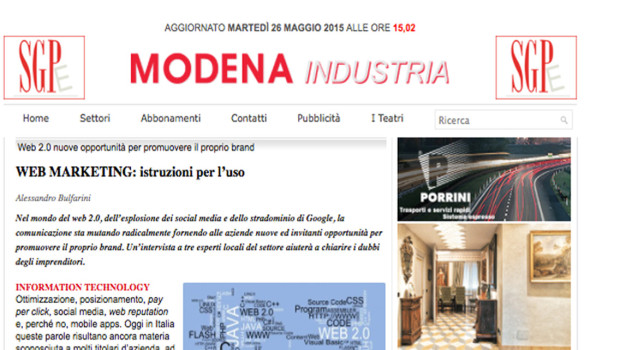 [Modena Industria] Web Marketing: istruzioni per l'uso