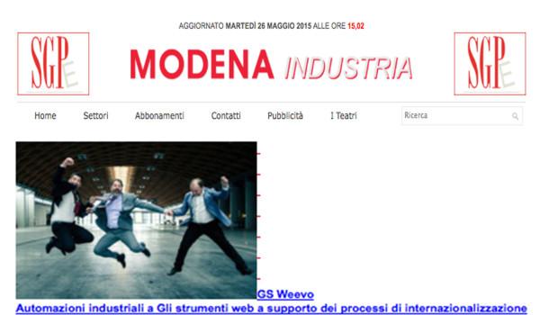 [Modena Industria] Weevo: Gli strumenti web a supporto dei processi di internazionalizzazione delle imprese