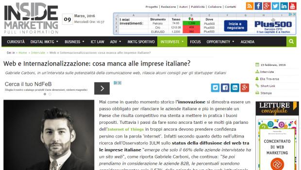 [Inside Marketing] Web e Internazionalizzazione: cosa manca alle imprese italiane?